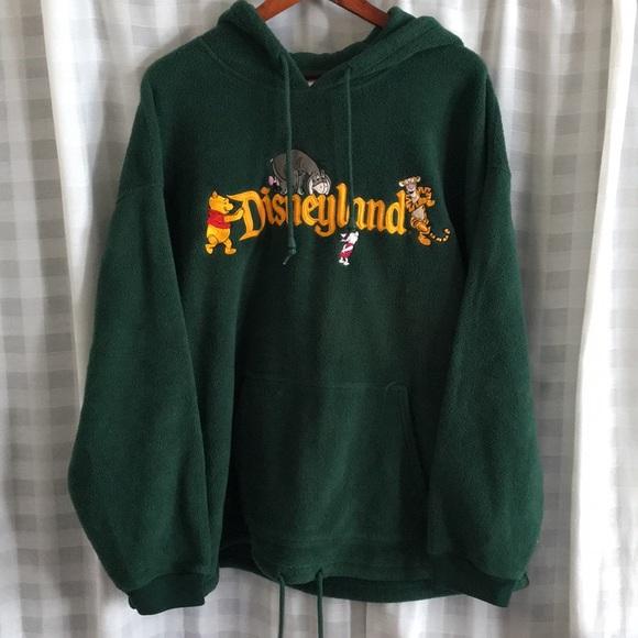 Vintage Disneyland Green Fleece Hoodie